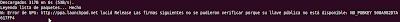 Imagen de un ejemplo de error de las firmas en Ubuntu 10.04