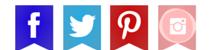 Banderines redes sociales varios colores