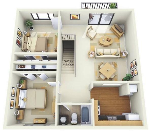 desain gambar 3d contoh rumah minimalis modern terbaru