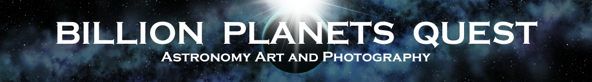 Billion Planets Astronomy and Art