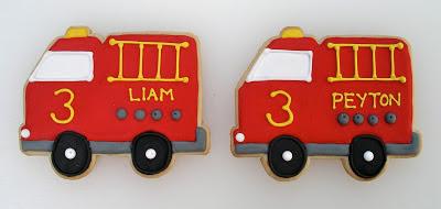 Firetruck Cookies