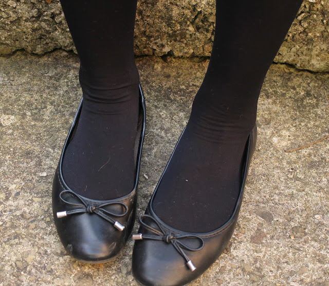 BHS shoes flats how i style monochrome