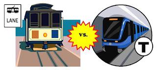 Streetcar versus Subway, image mosaic by wobuilt.com