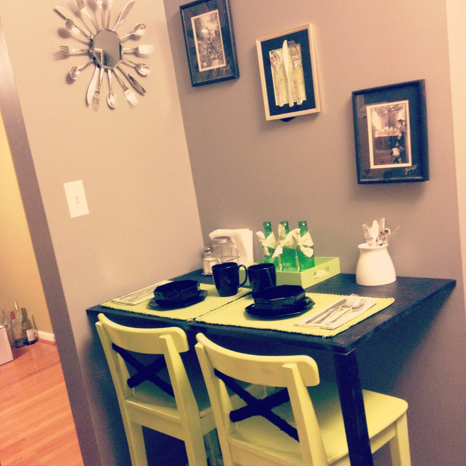 DIY Breakfast Nook And Ikea Stool Lime Green Update