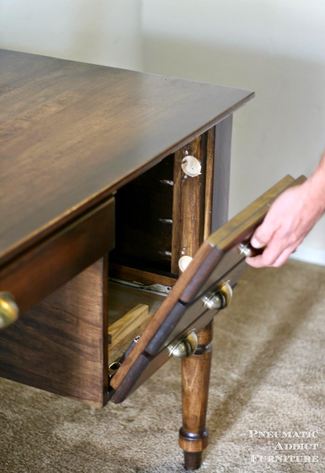 Pneumatic Addict : Pottery Barn Printer's Keyhole Desk Knock-off Tutorial