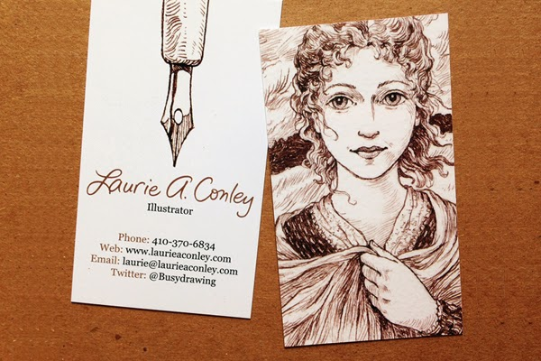 GotPrint Laurie Conley vertical illustrated business cards
