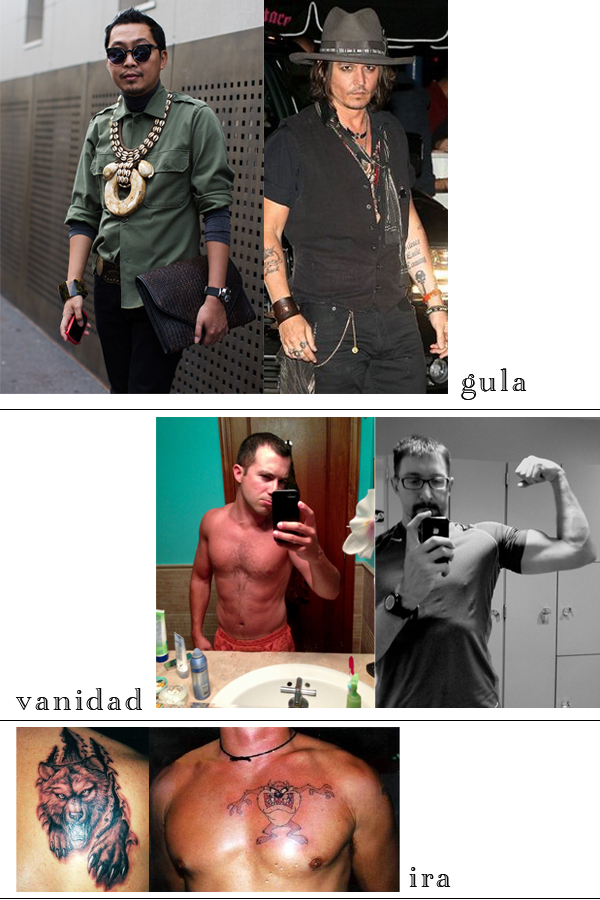 gula, Johnny Depp, self shot, tattoo, accessories