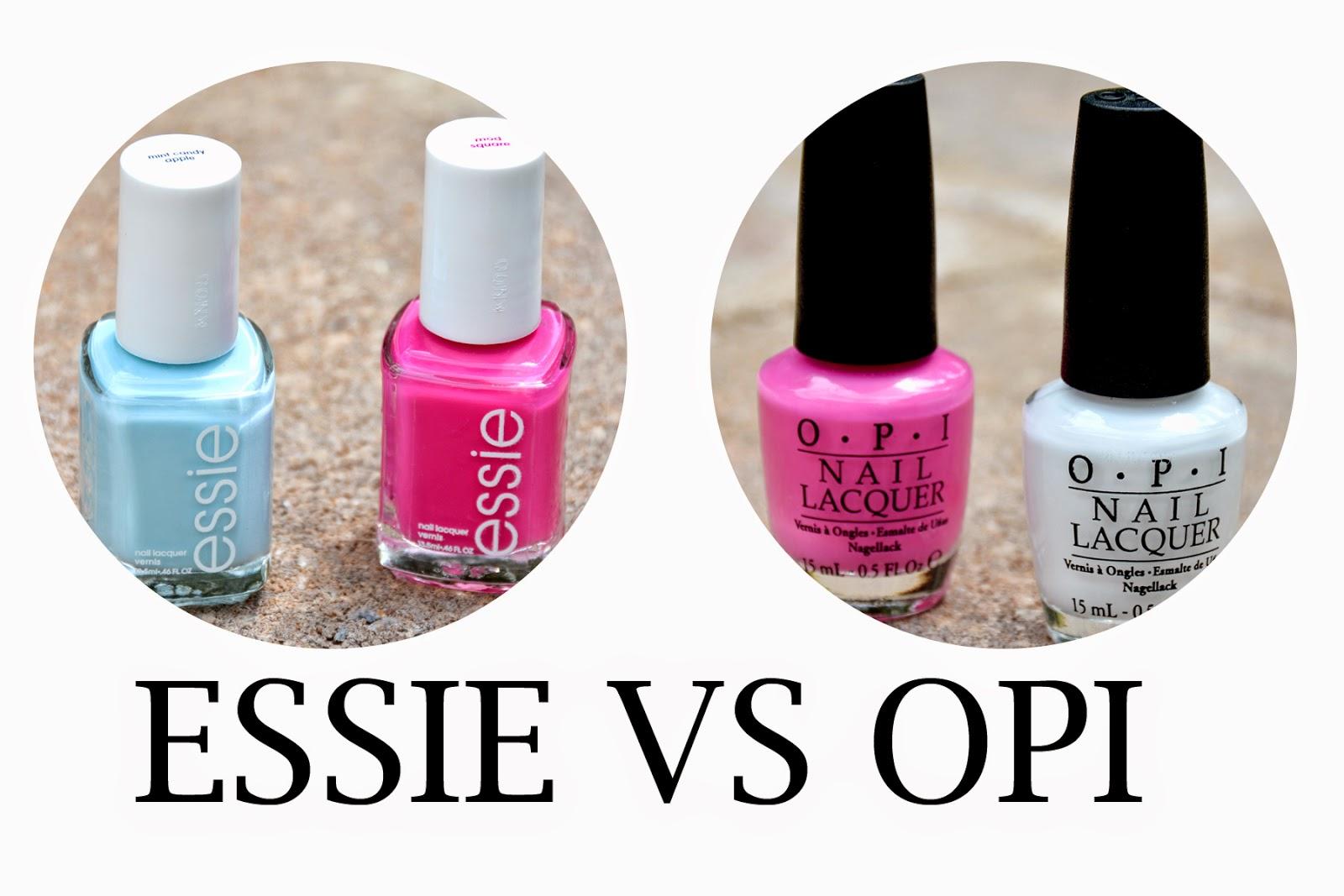 BrandyGirlBlog: Essie vs. OPI