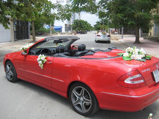 Xe cưới Mecedes CLK320,Xe cưới mui trần Mecedes CLK320,Xe mui trần Mecedes CLK320