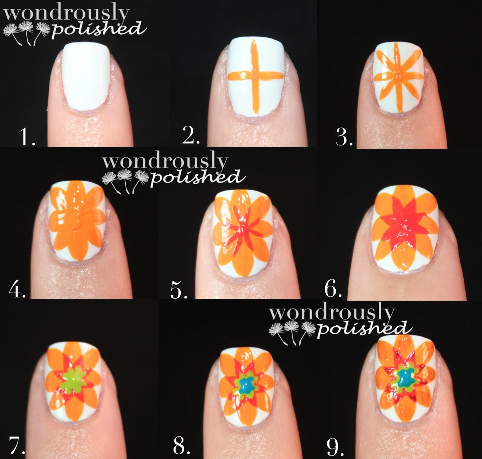 Wondrously Polished: Spanish (Majolica) Inspired Flower Tutorial