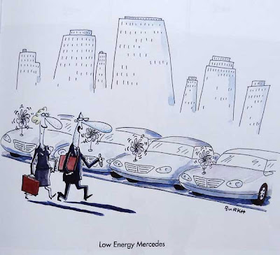 Mercedez cartoon low energy