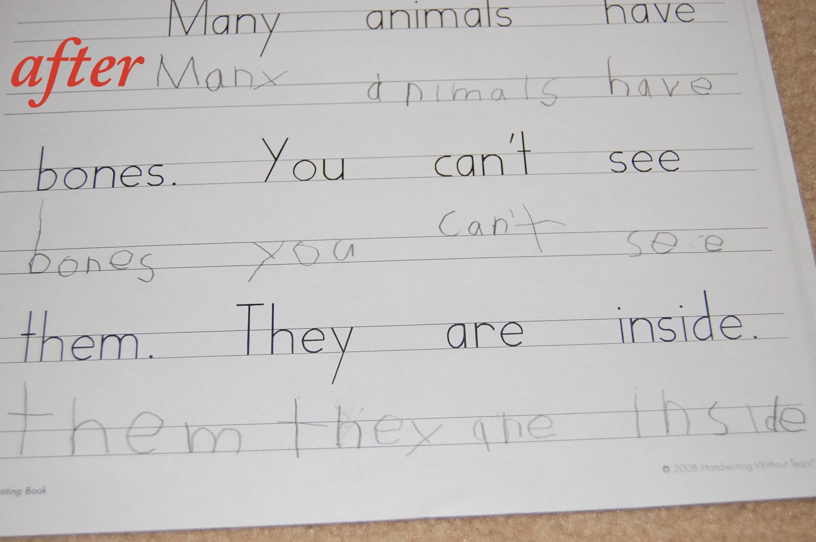 how to develop writing skills in 4 year old