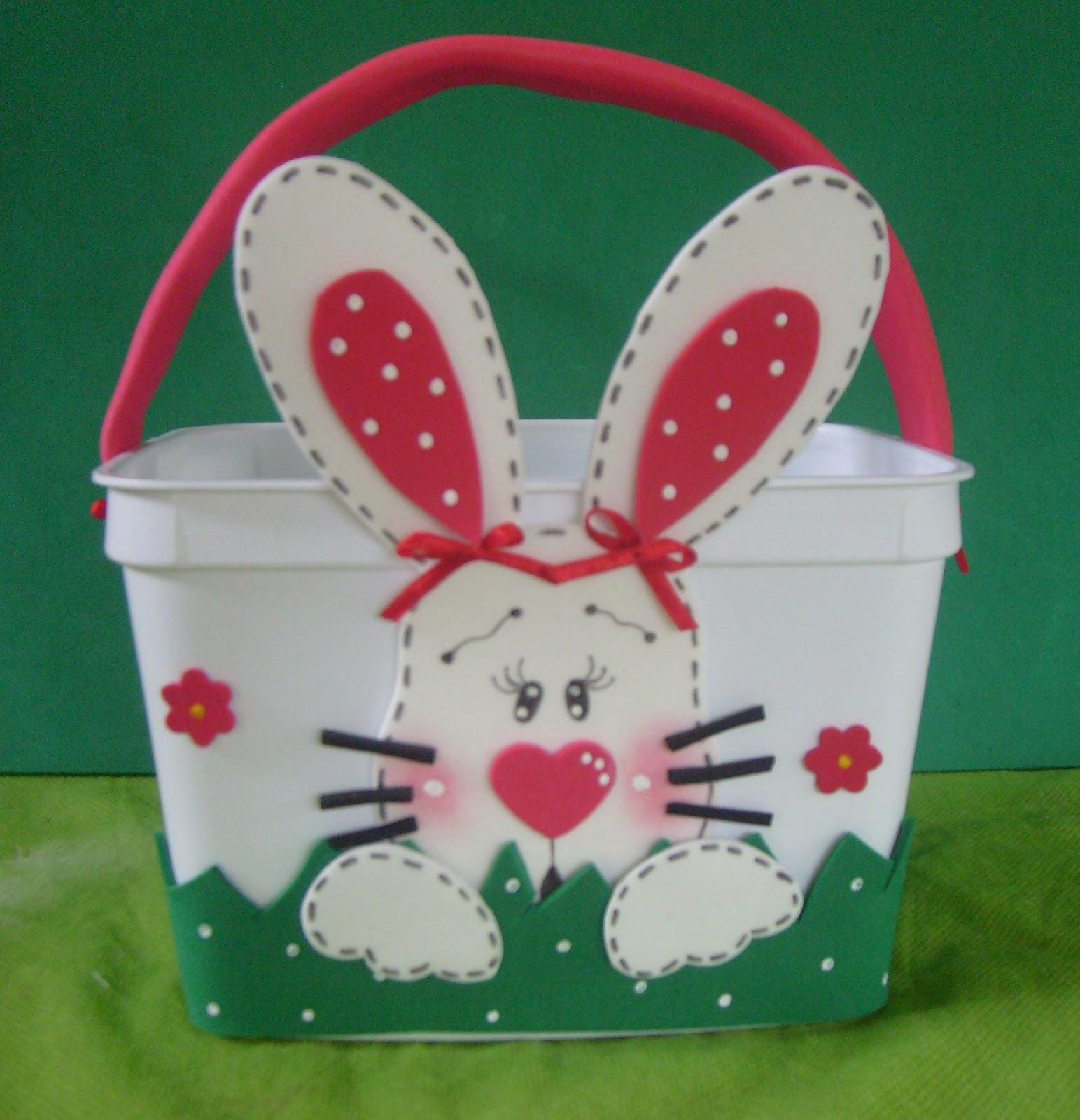 imagenes de conejos en cesta de foami imagui