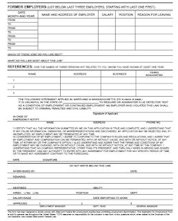Job application forms 3