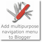 Add Nav Menu to Blogger (Dropdown, Floating/Fixed to Header, Social icons)