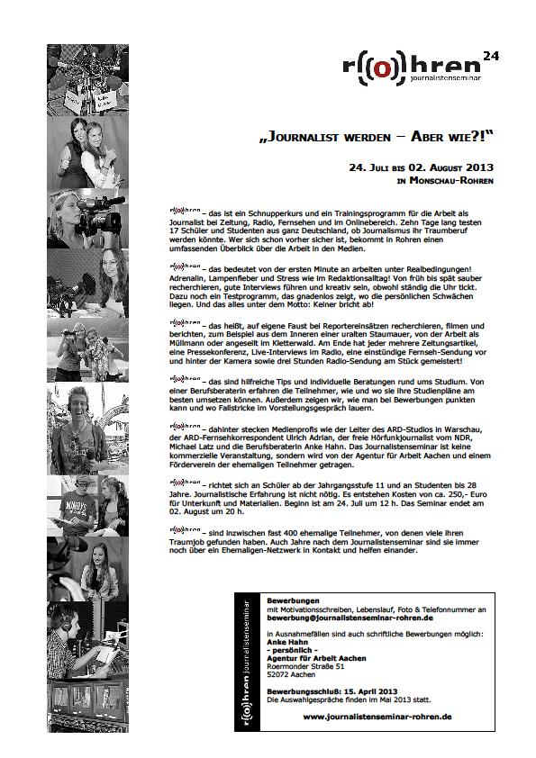 Ausgezeichnet Sendung Journalismus Praktikum Lebenslauf Probe Ideen ...