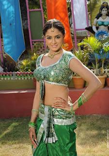 Asmita Sood in Spicy Green Choli Saree