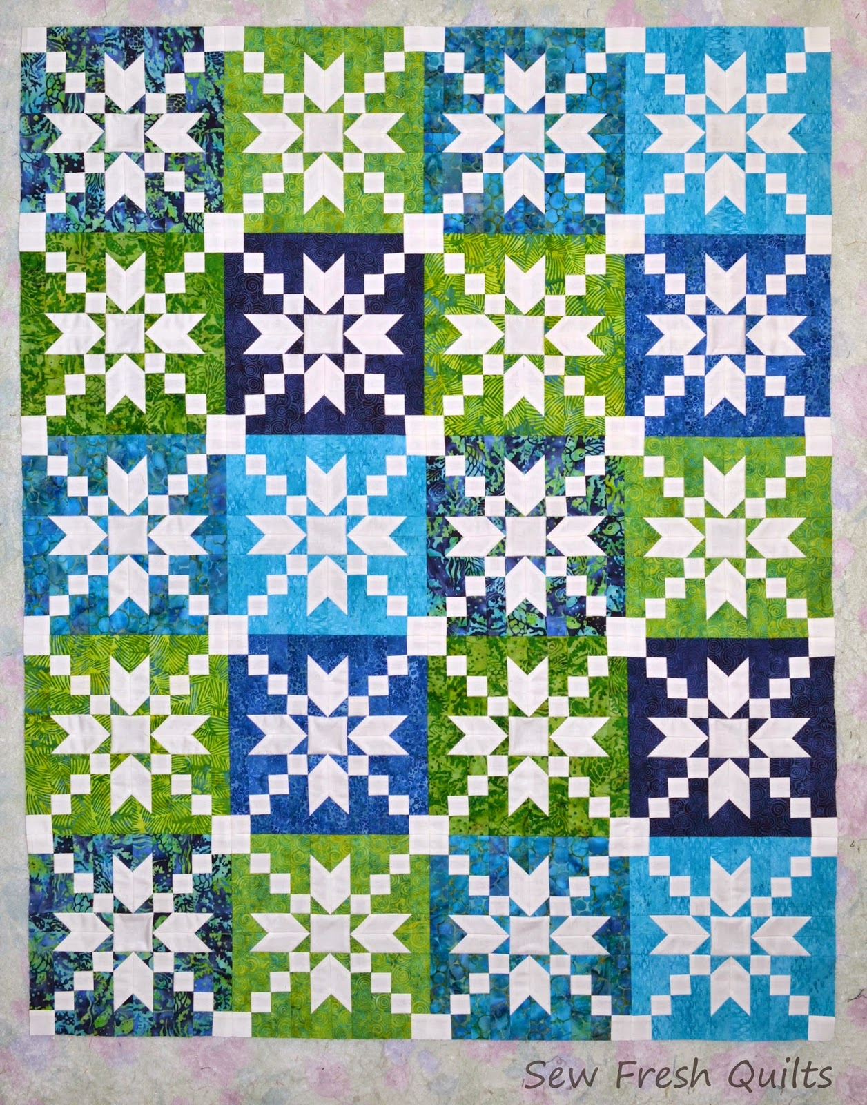 Twin Quilt Patterns Free : Sew Fresh Quilts: Positive/Negative Twin Quilt Tops