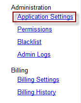 Google App Engine Application Settings