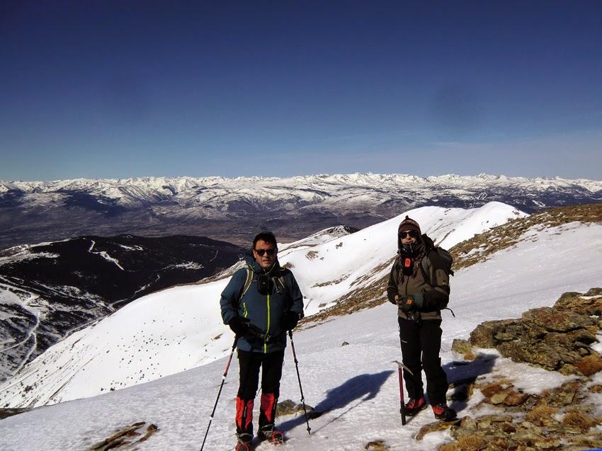 Vistas de la Cerdaña desde la cima del Puigmal.