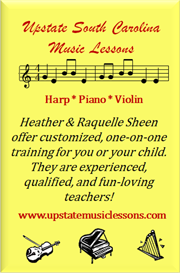 Upstate South Carolina Music Lessons!