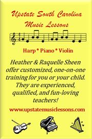 Upstate South Carolina Music Lessons!