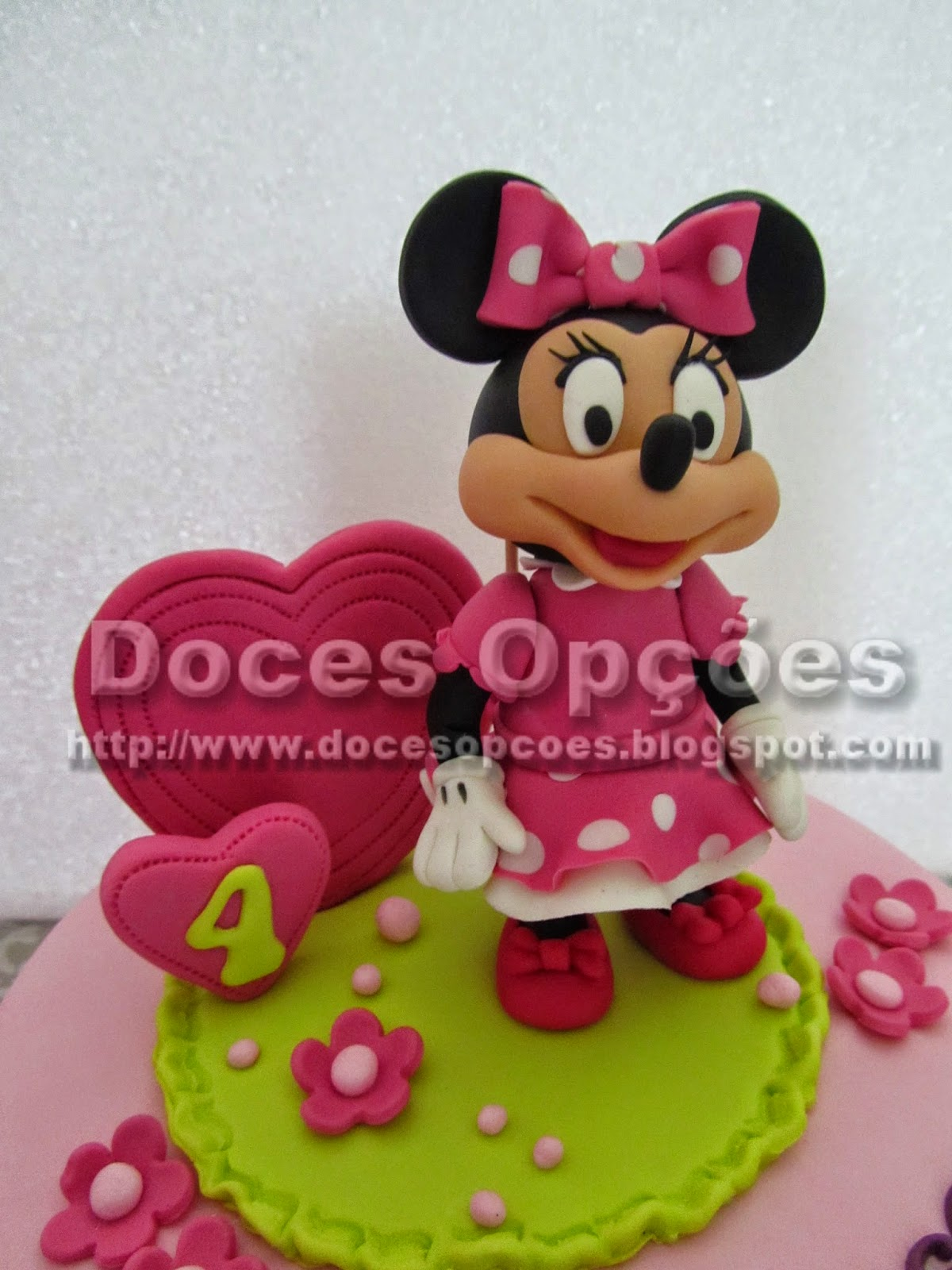 minnie mouse pasta açucar
