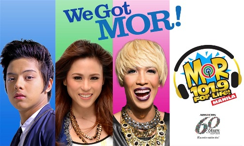 Daniel Padilla, Toni Gonzaga and Vice Ganda New Faces of MOR Manila 101.9 FM Radio Station
