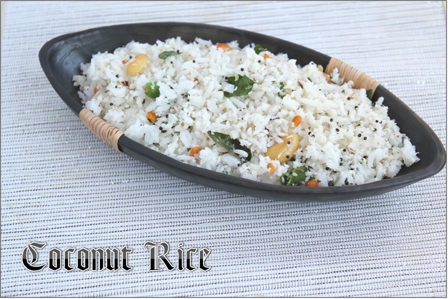 Jaya's recipes: Coconut rice