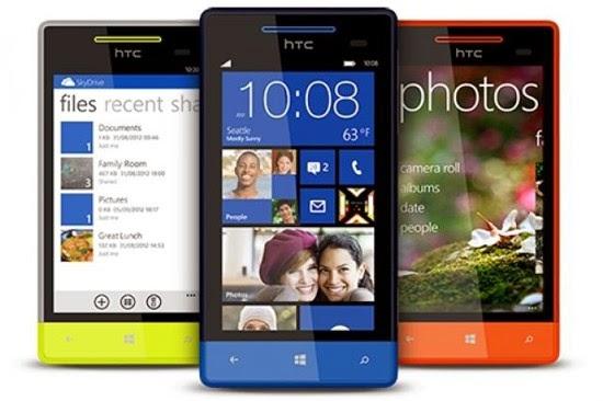 Daftar Harga Handphone HTC OS Windows Phone Terbaru
