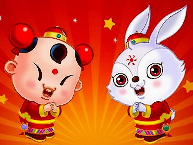 chinese new year rabbit wallpaper