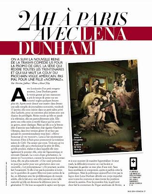 Lena Dunham Grazia France Magazine Photoshoot Janvier 2014