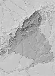 Mapa mudo físico Madrid.