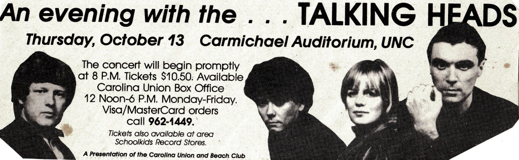 Talking Heads Concert Ad
