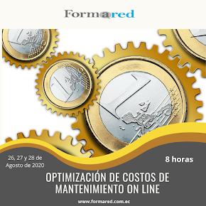 Curso abierto en vivo Optimización de Costos de Mantenimiento ON LINE