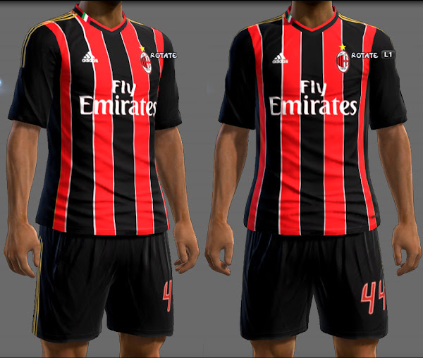 PES 2013 AC Milan 2013/14 Home Kit by Ginda01