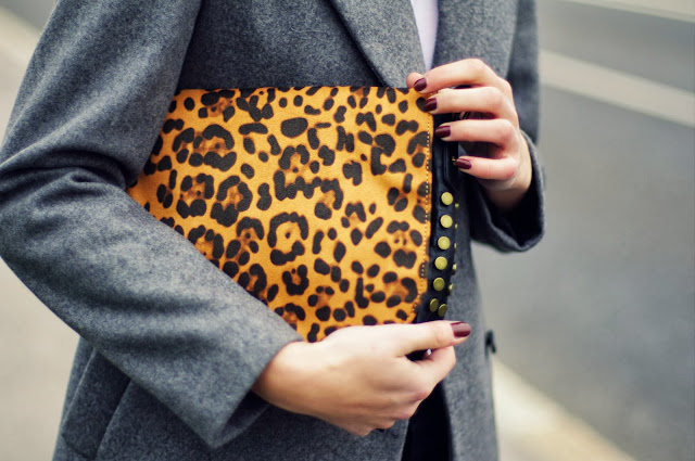 leopard print, animal print bag, deichman bag, fashion blogger, blog, studded bag