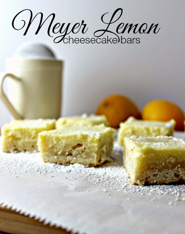 Meyer Lemon Cheesecake Bars:  a nice twist on the traditional lemon bar recipe.