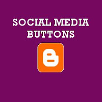 How To Add Social Buttons Below Blogger Posts Horizontally?
