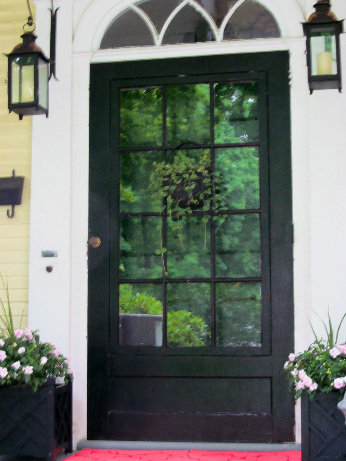 Melinda jennings interiors black front door for Glass door in front of front door