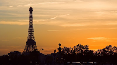 sunset in Paris : Eiffel tower