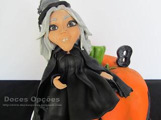 bolo aniversário bruxa halloween