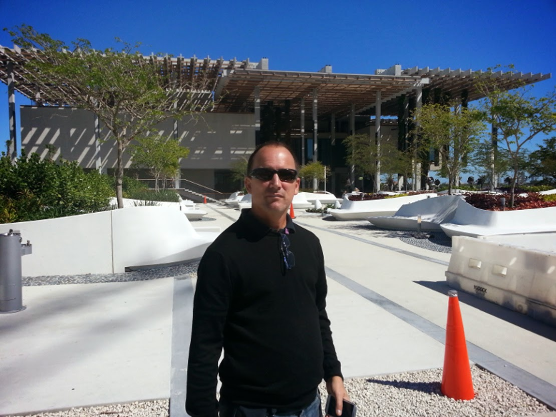 Outside the hanging gardens of Herzog and de Meurron Miami FL
