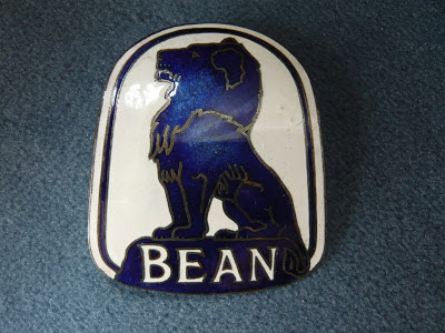 BEAN radiator emblem badge vintage 1920 1921 1922 1923 1924