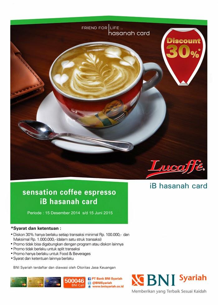 Nikmati sensasi Coffee Espresso di Lucaffe dengan iB hasanah card