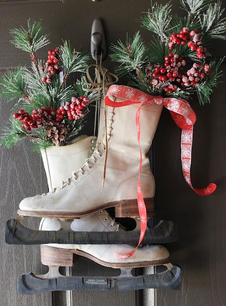 Ice Skate Christmas Door Decoration