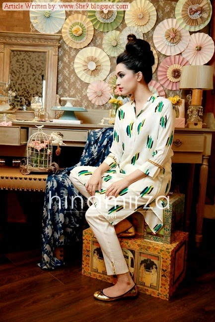 Hina Mirza - Kurti Pret Collection 2014