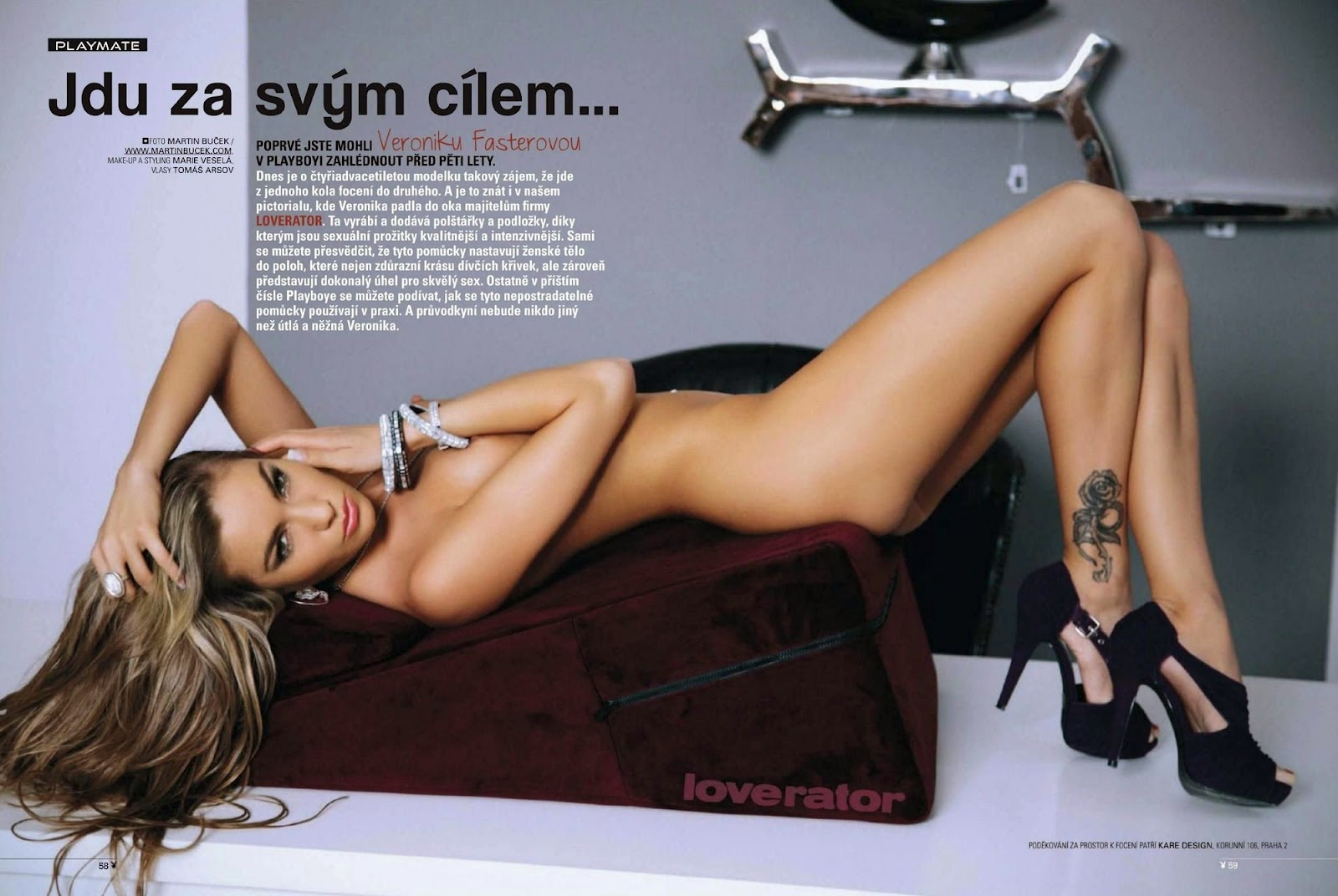 Veronika Fasterova naked on Playboy