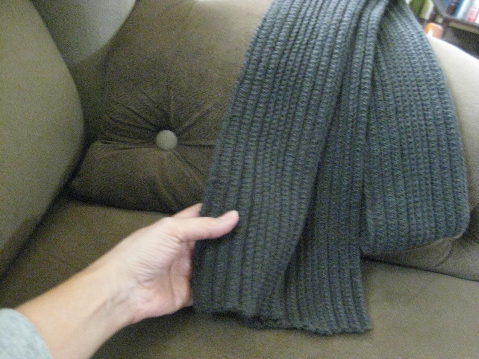 crochet hdc rib scarf