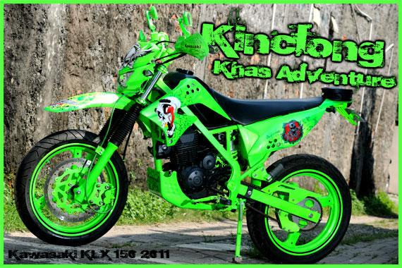 Contoh Modifikasi Kawasaki KLX 150 title=
